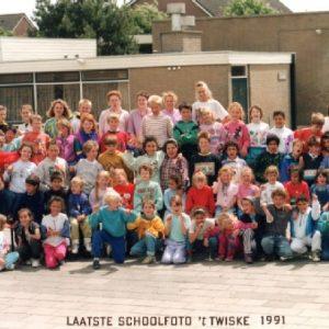 OBS 't Twiske 1991 Laatste Schoolfoto 't Twiske 1